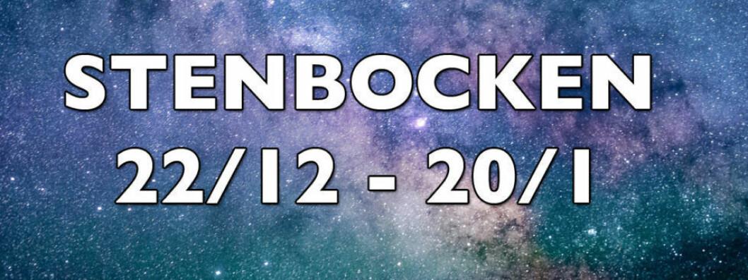 Horoskop vecka 31 2018 för stenbocken.
