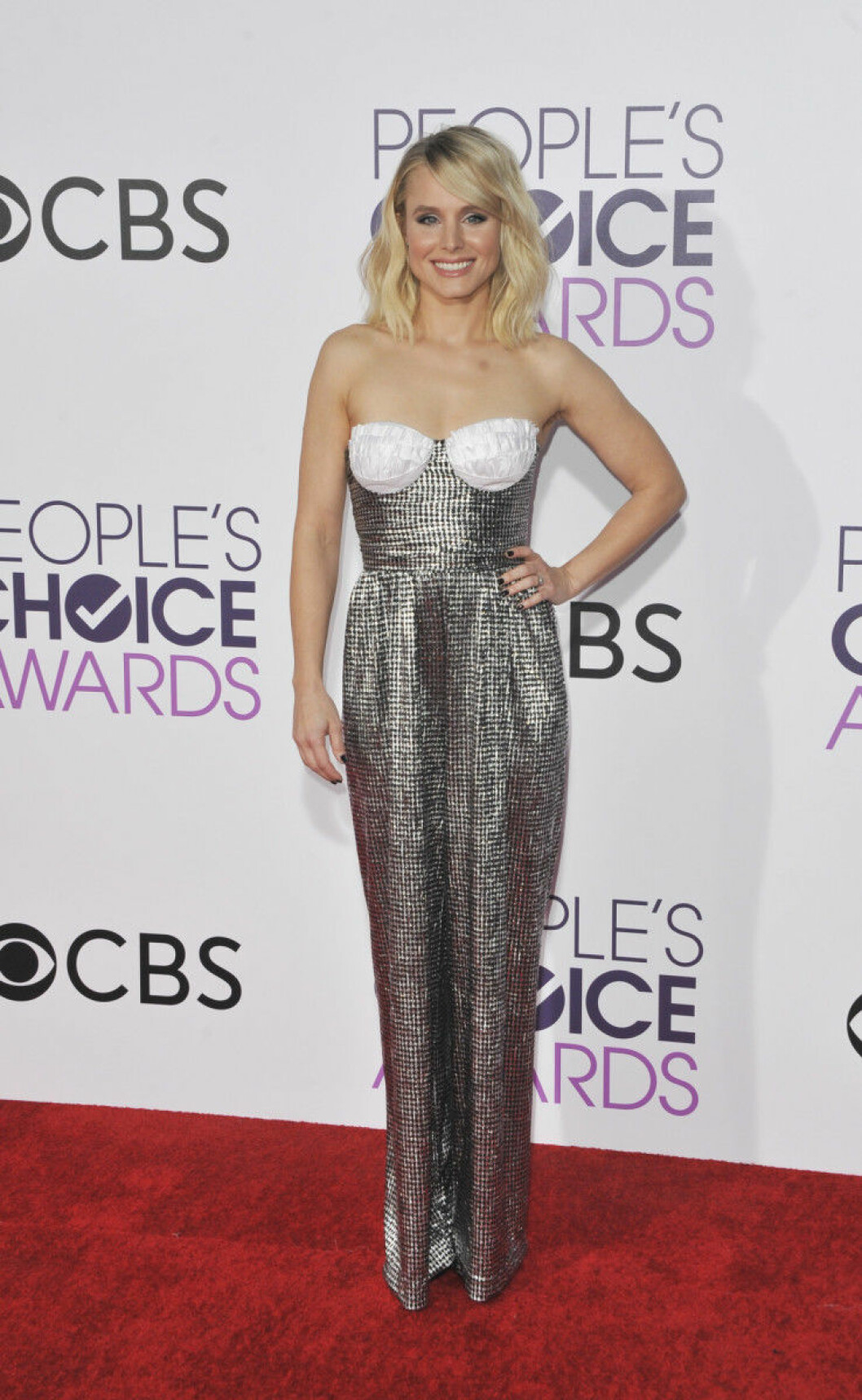 People's Choice Awards 2017 arrivals Featuring: Kristen Bell Where: Los Angeles, California, United States When: 19 Jan 2017 Credit: Apega/WENN.com