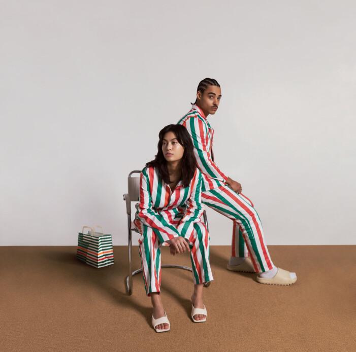 Pyjamasen kommer i medium och large.
