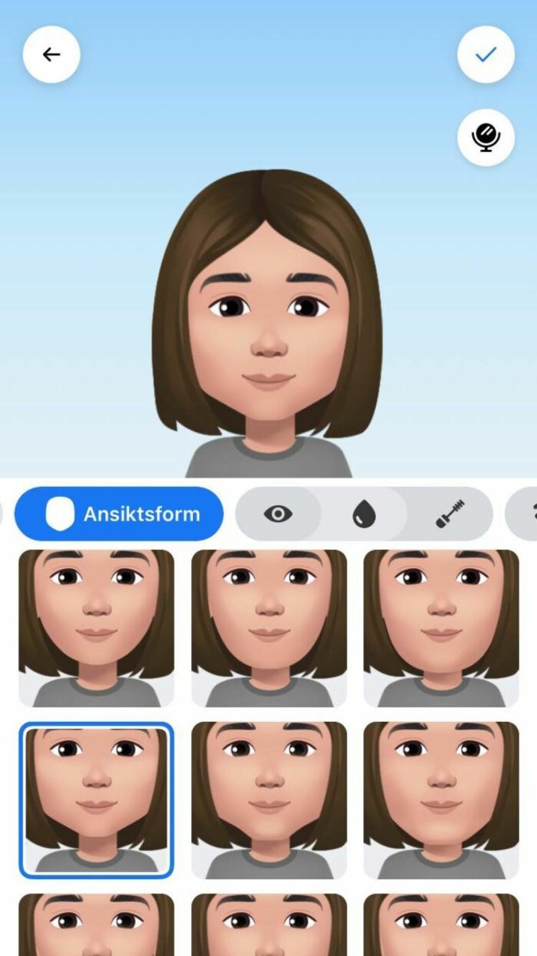 Facebook gor din egen avatar emoji