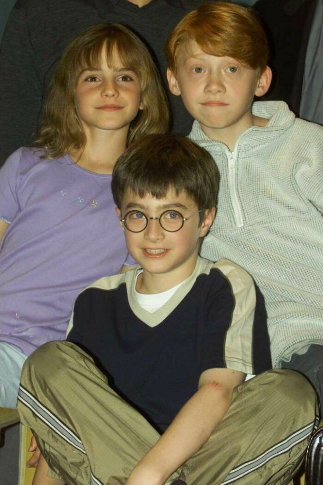 Daniel Radcliffe, Rupert Grint och Emma Watson från Harry Potter