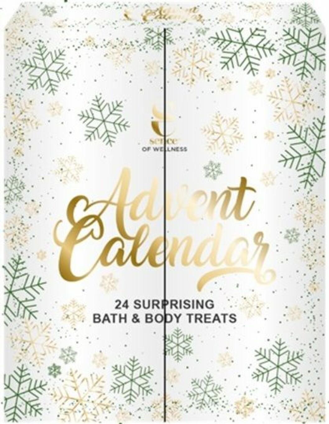 Adventskalender med produkter för kropp och bad till julen 2019