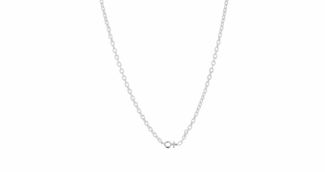 Äkta silver kvinnosymbol halsband