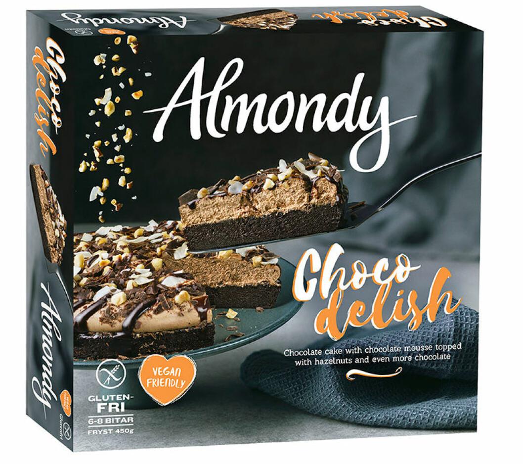 Almondy chokladkaka vegansk