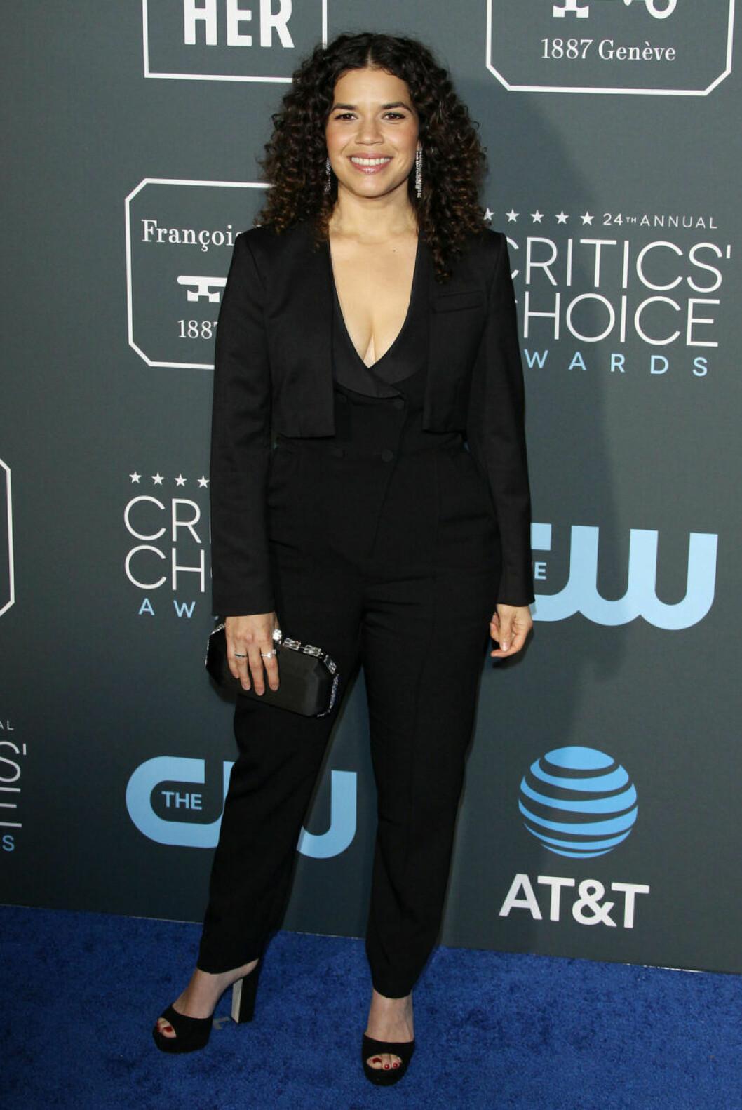 America Ferrera på röda mattan på Critics Choice Awards 2019
