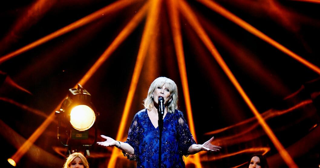 Ann-Louise Hanson uppträder på Allsång på Skansen den 16 juli 2019.