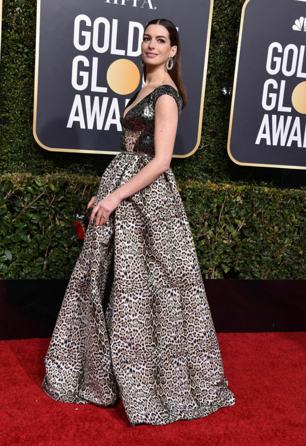 Anne Hathaway på Golden Globe 2019