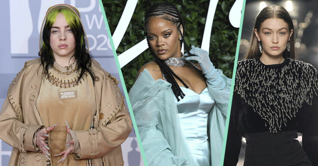Billie Eilish, Rihanna, Gigi Hadid