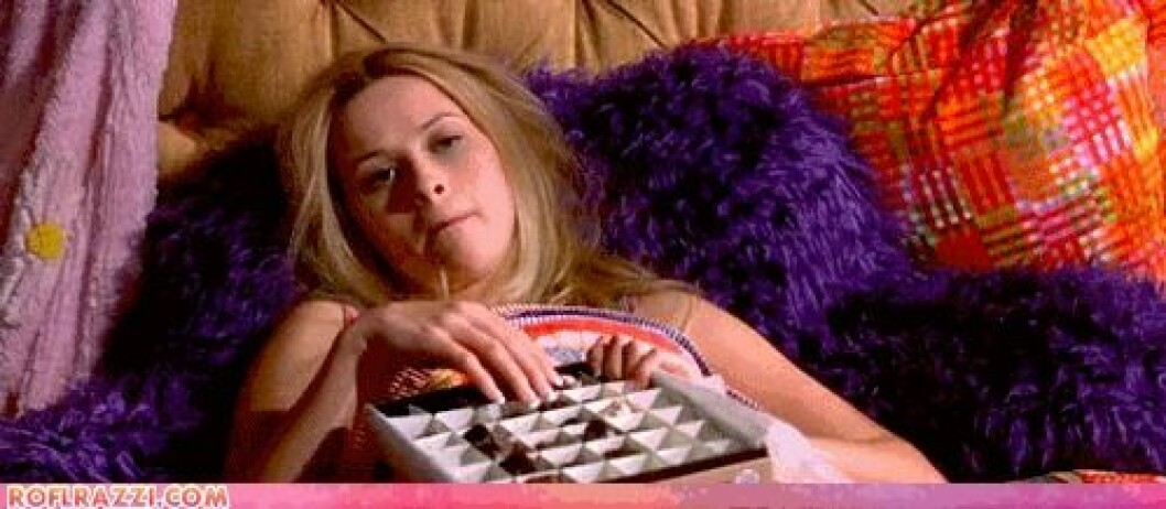 äta choklad