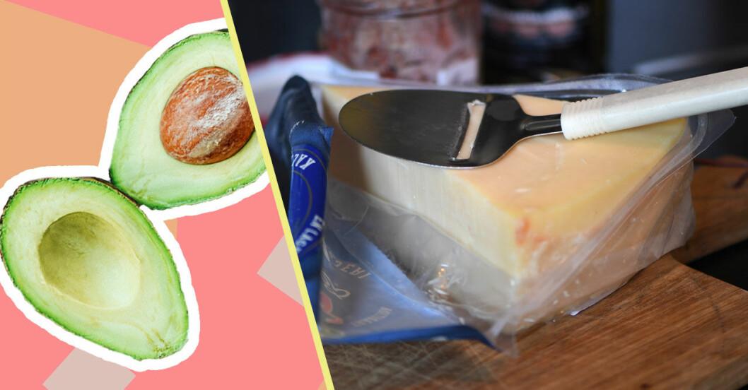 Avokado och ost är inte bra för miljön