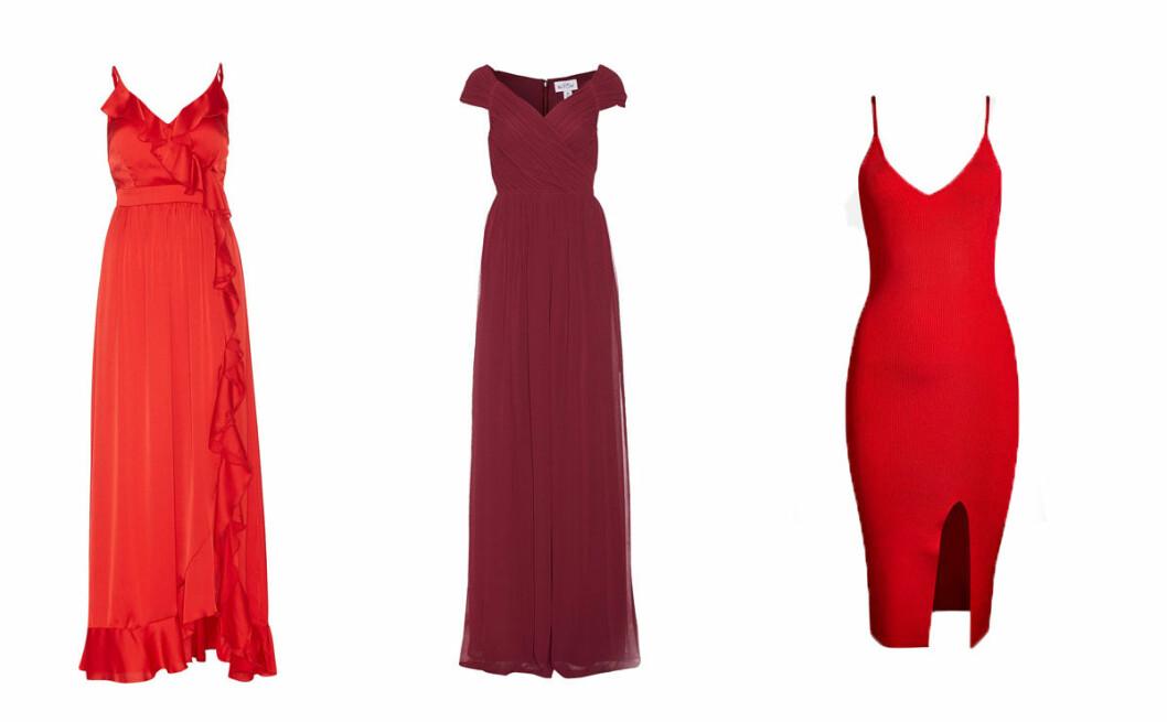 röda balklänningar 2018