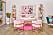 Rosa inredning hemma hos Barbie i Malibu