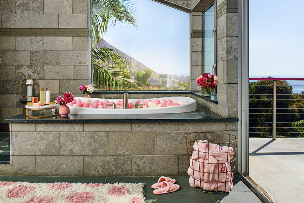 Badrummet i Barbies hus i Malibu