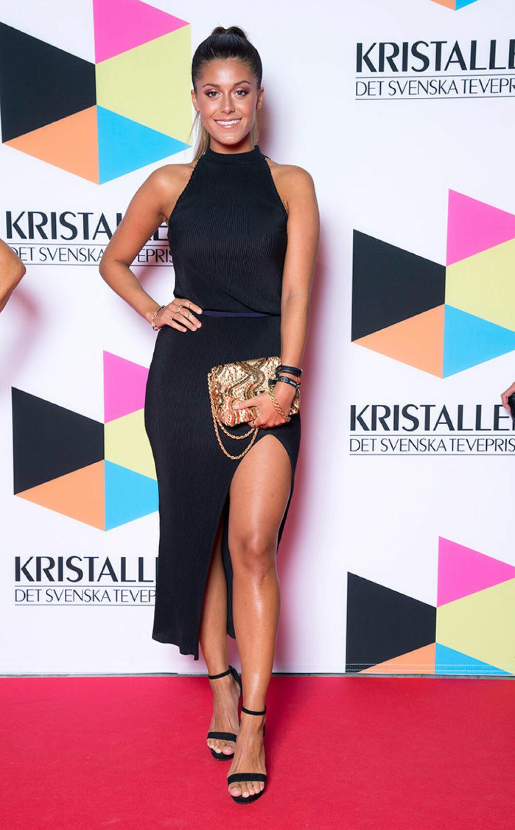 En bild på Bianca Ingrosso på Kristallen-galan 2016.