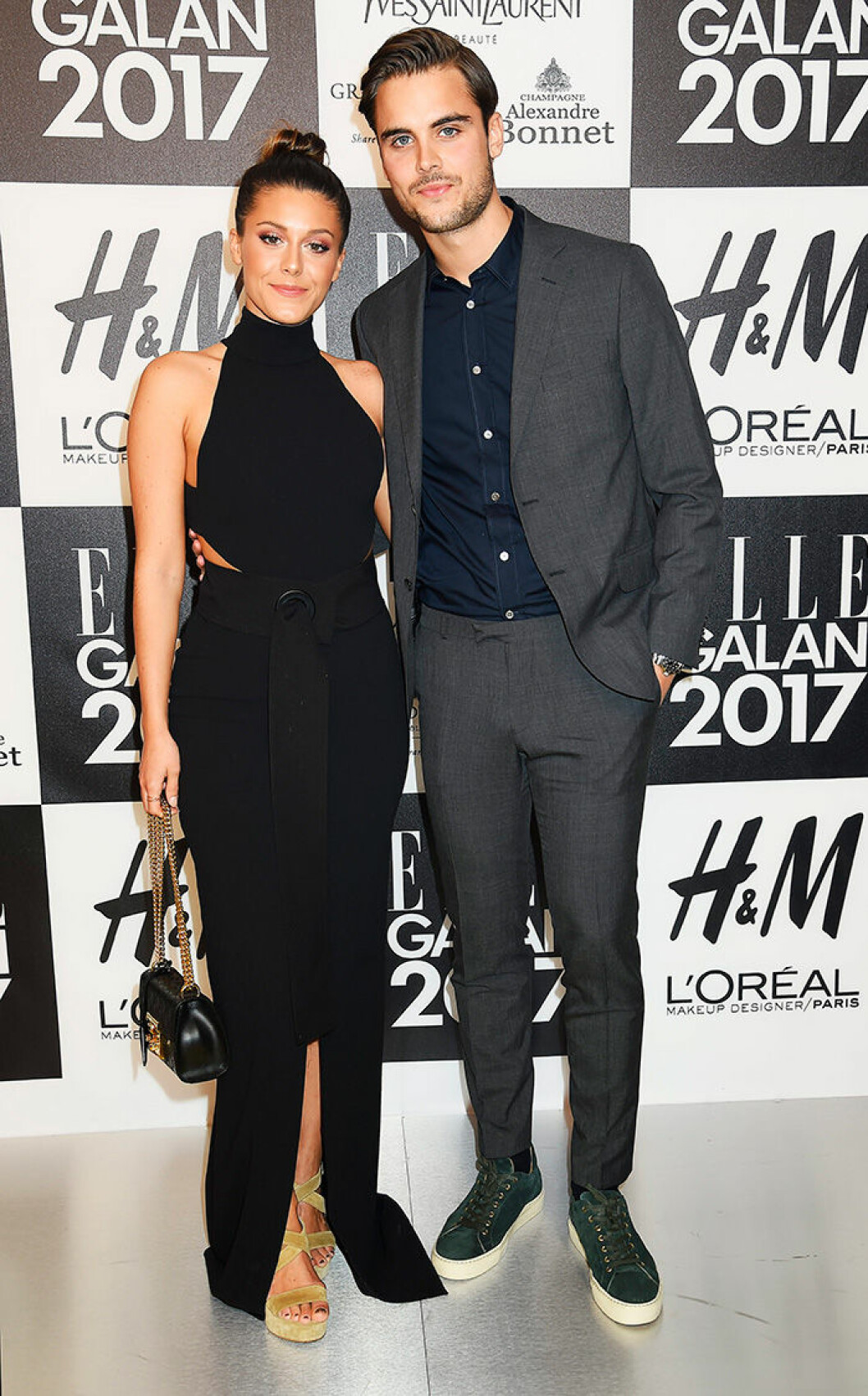 En bild på Bianca Ingrosso och Phillipe Cohen på ELLE-galan 2017.