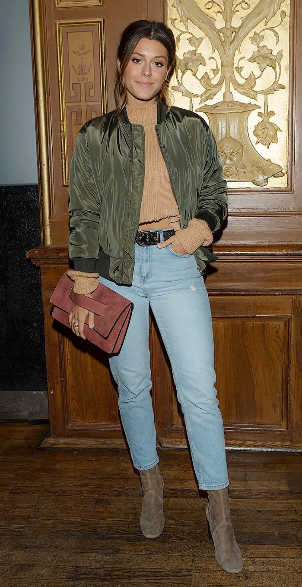 En bild på Bianca Ingrosso på Stockholm Fashion Week 2017.