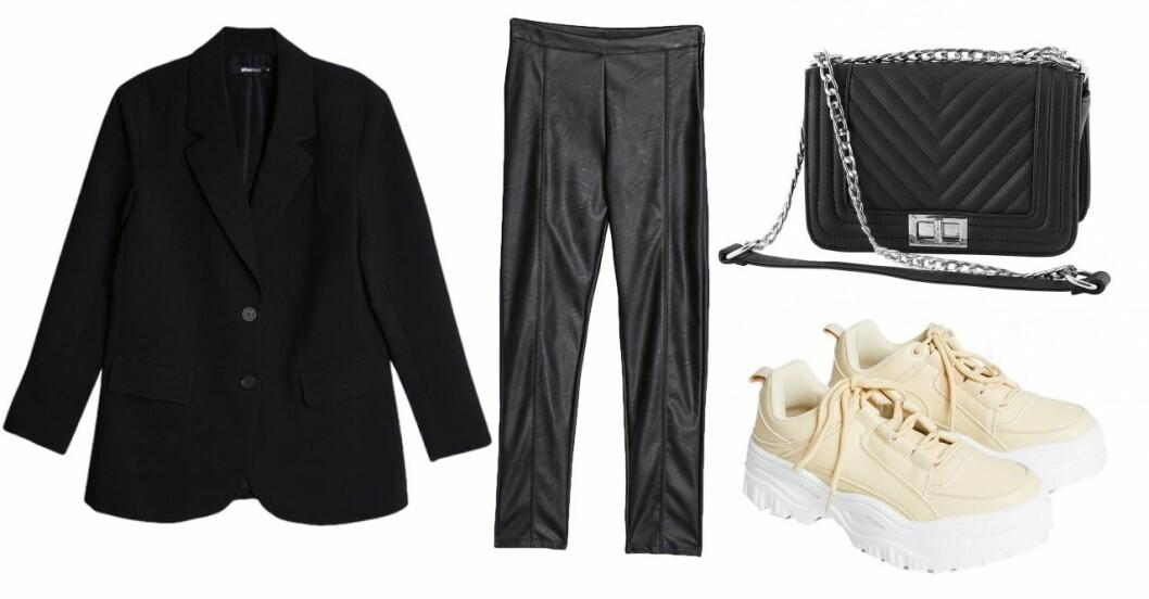 Bianca Ingrosso kläder lackleggings