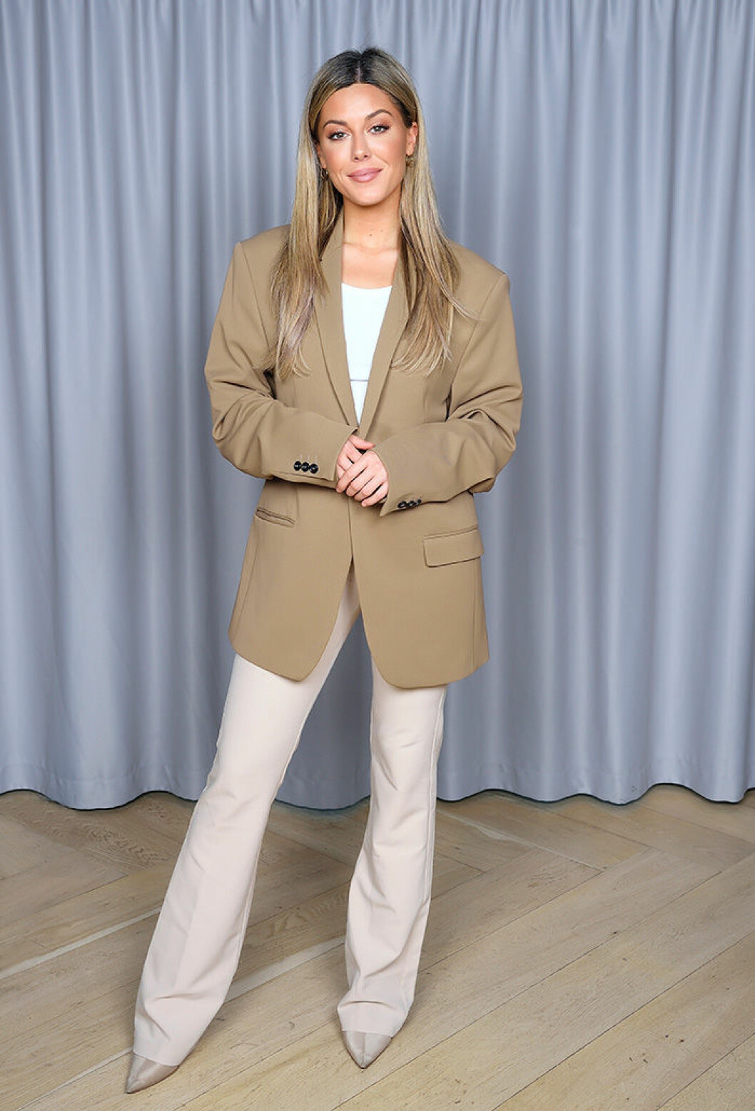 En bild på Bianca Ingrosso 2020 under Kanal 5:s pressträff.