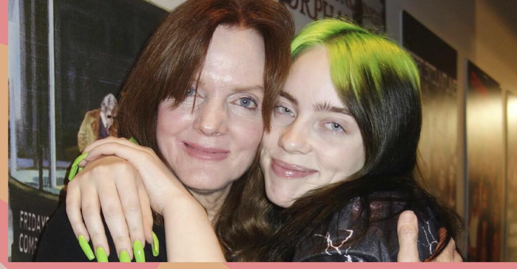 Billie Eilish kramar sin mamma