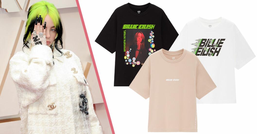 Billie Eilish släpper t-shirtkollektion med Uniqlo
