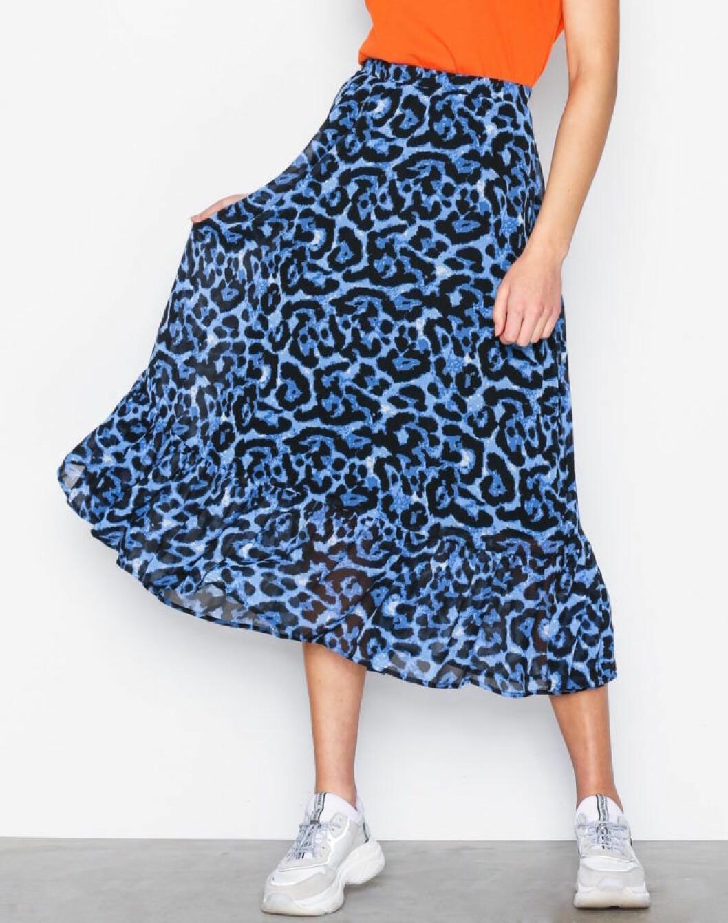 Blå kjol till hösten