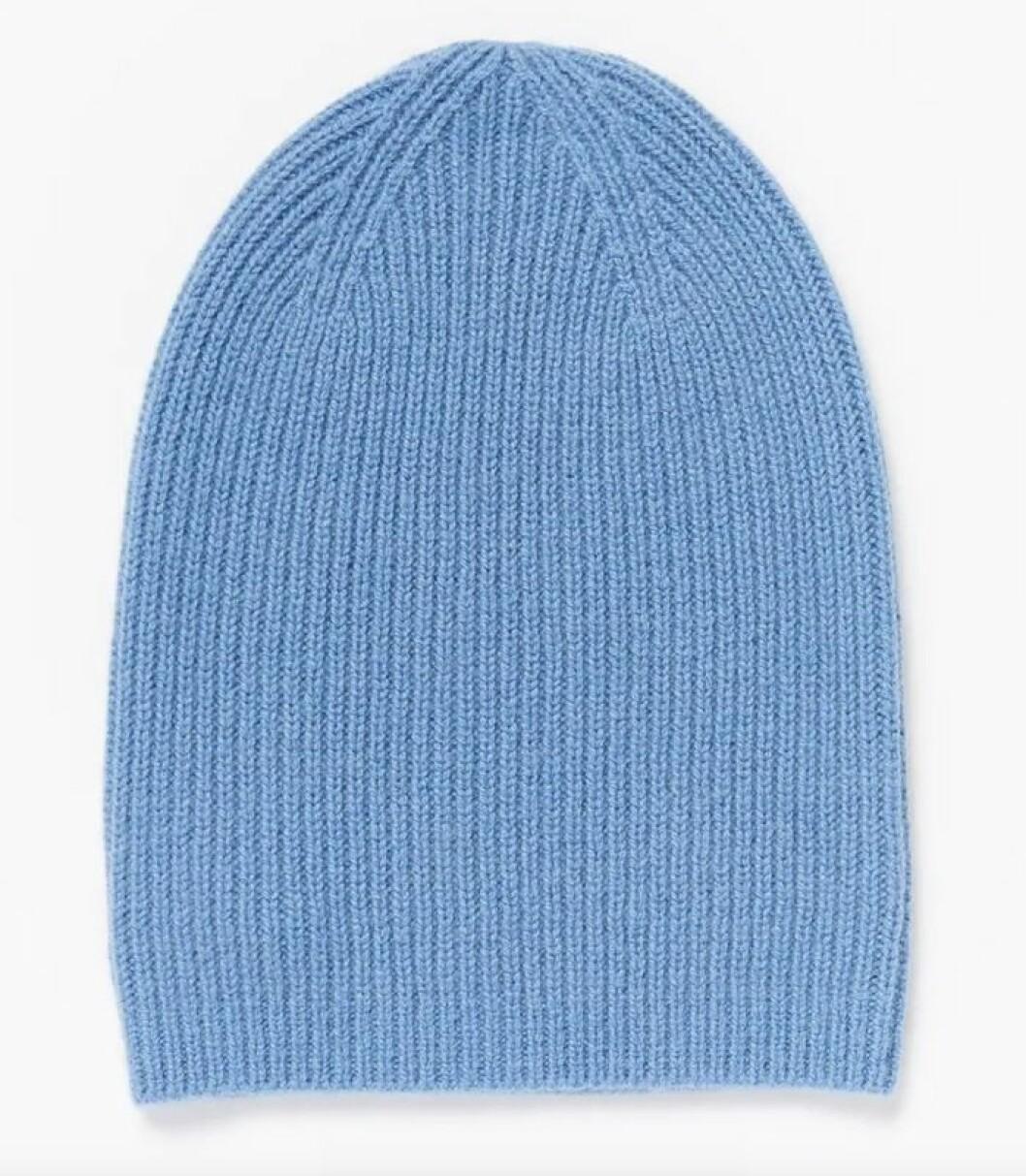Blå mössa i kashmir