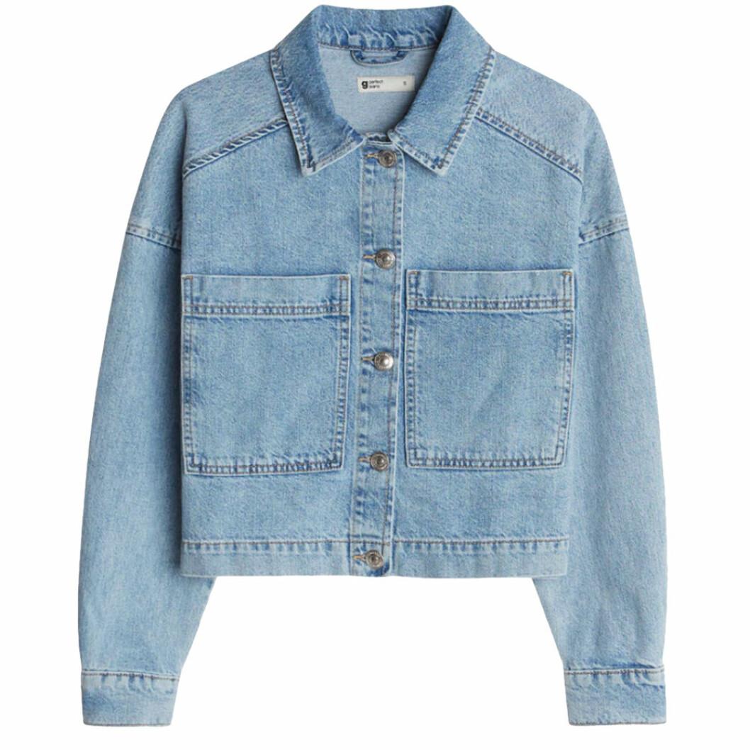Blå oversize jeansjacka från Gina tricot