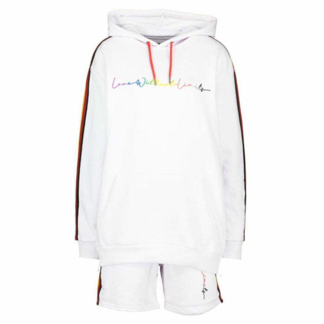 Set med hoodie och shorts