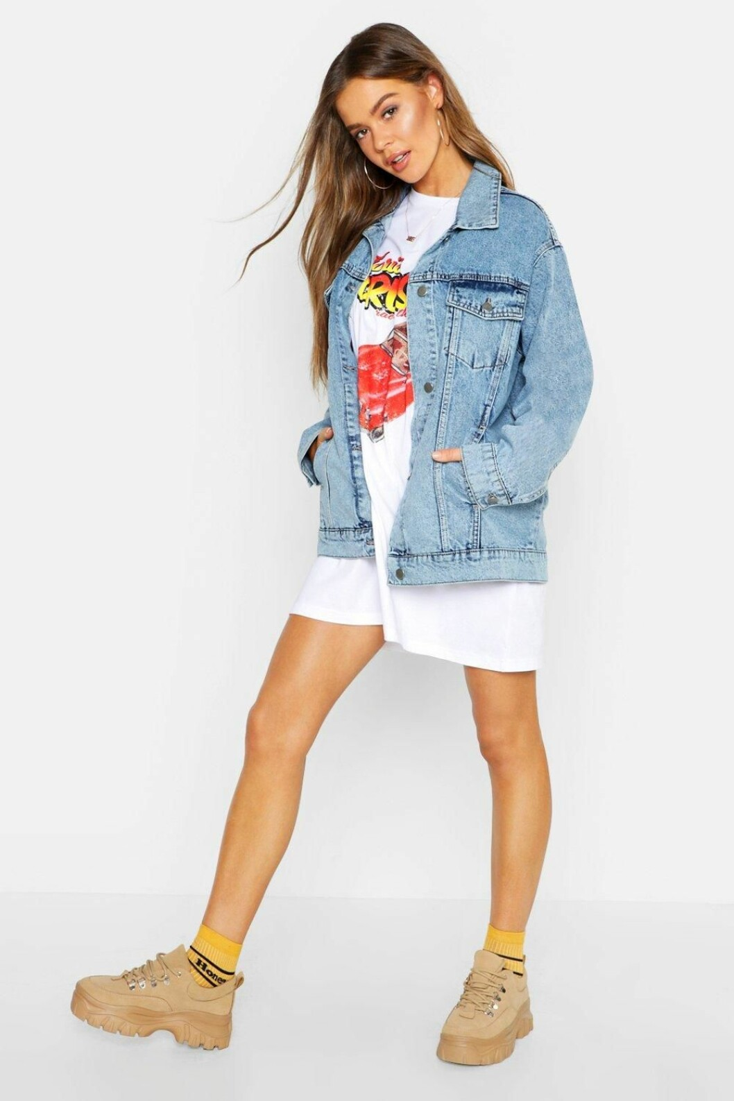Oversize jeansjacka från Boohoo
