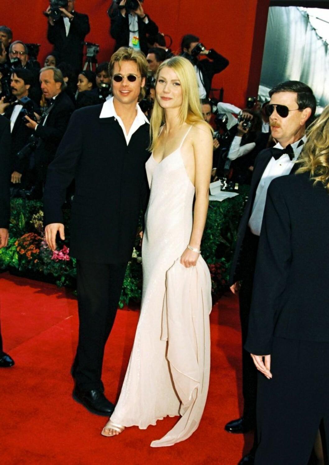 Brad Pitt och Gwyneth Paltrow på Oscarsgalan 1996