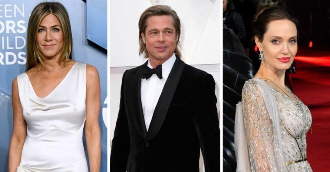 Brad Pitt, Angelina Jolie och Jennifer Aniston