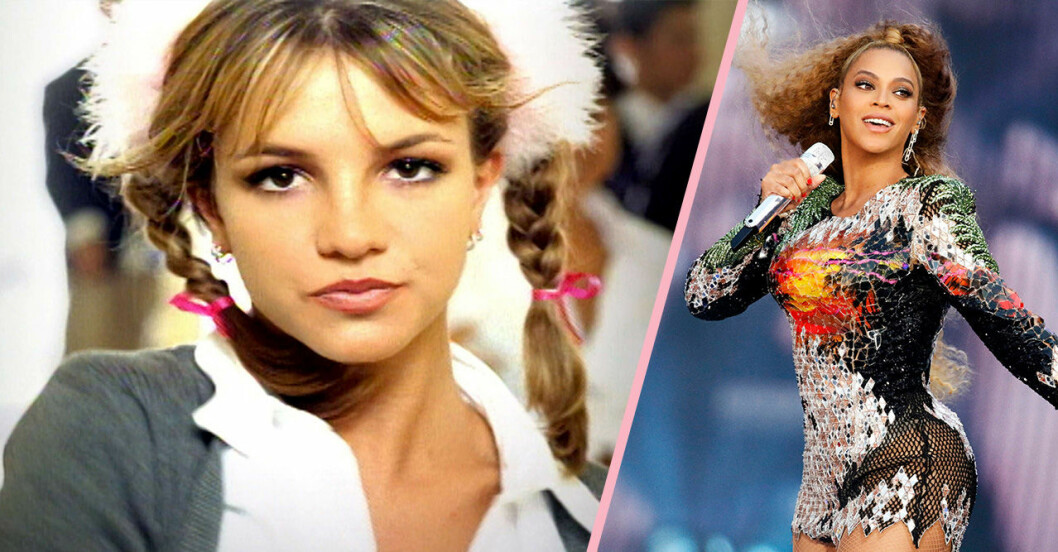 Britney Spears och Beyonce sjunger