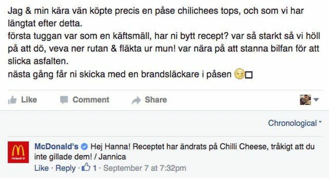 chili cheese nytt recept