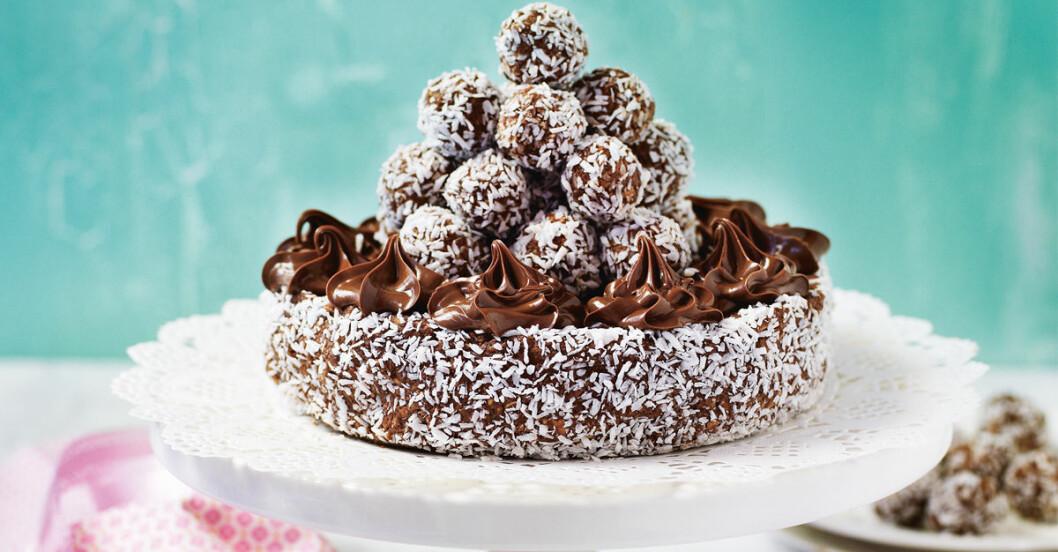 Chokladboll-tarta