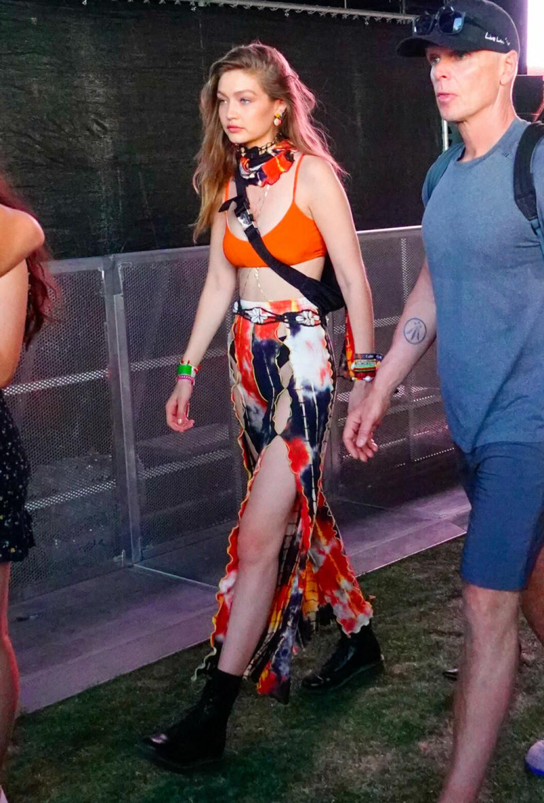 Gigi Hadid på Coachella 2019.