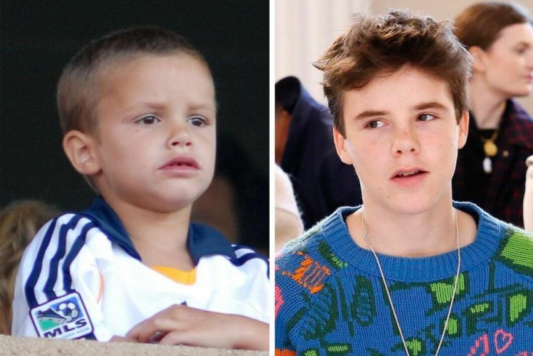 Cruz Beckham som barn och som tonåring