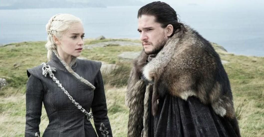Jon and Daenerys i Game of Thrones