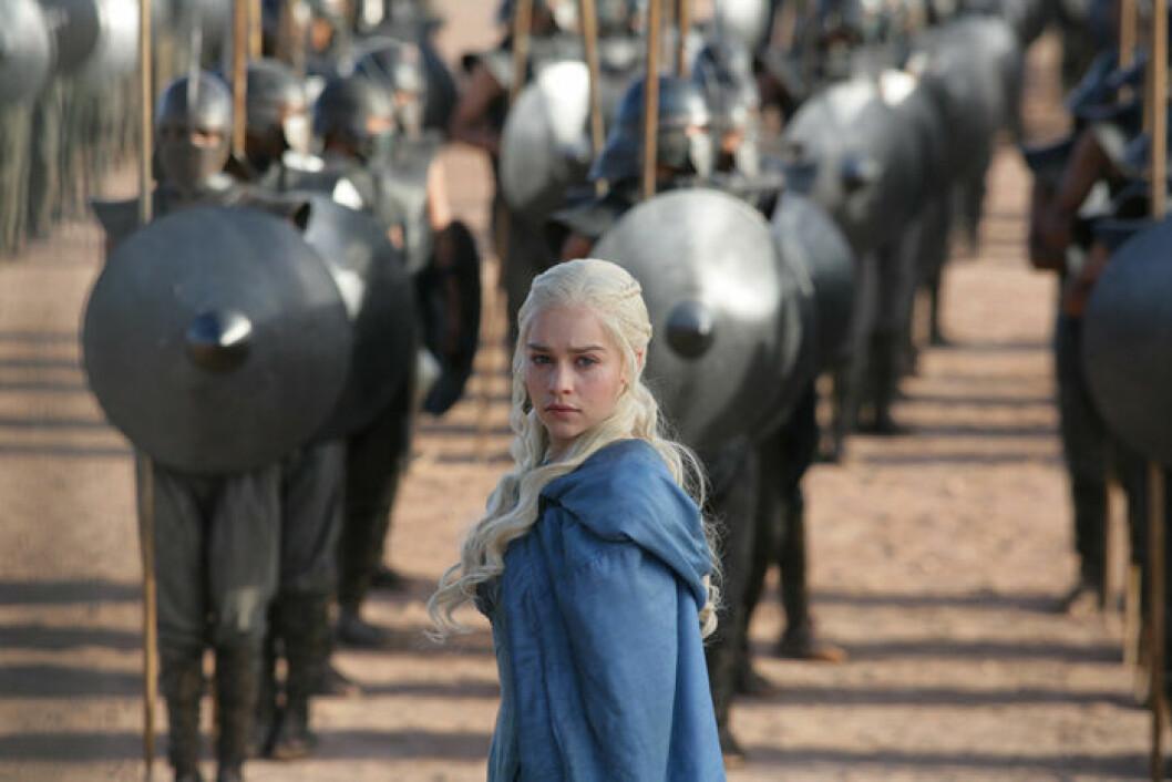 En bild på karaktären Daenerys Targaryen från tv-serien Game of Thrones.