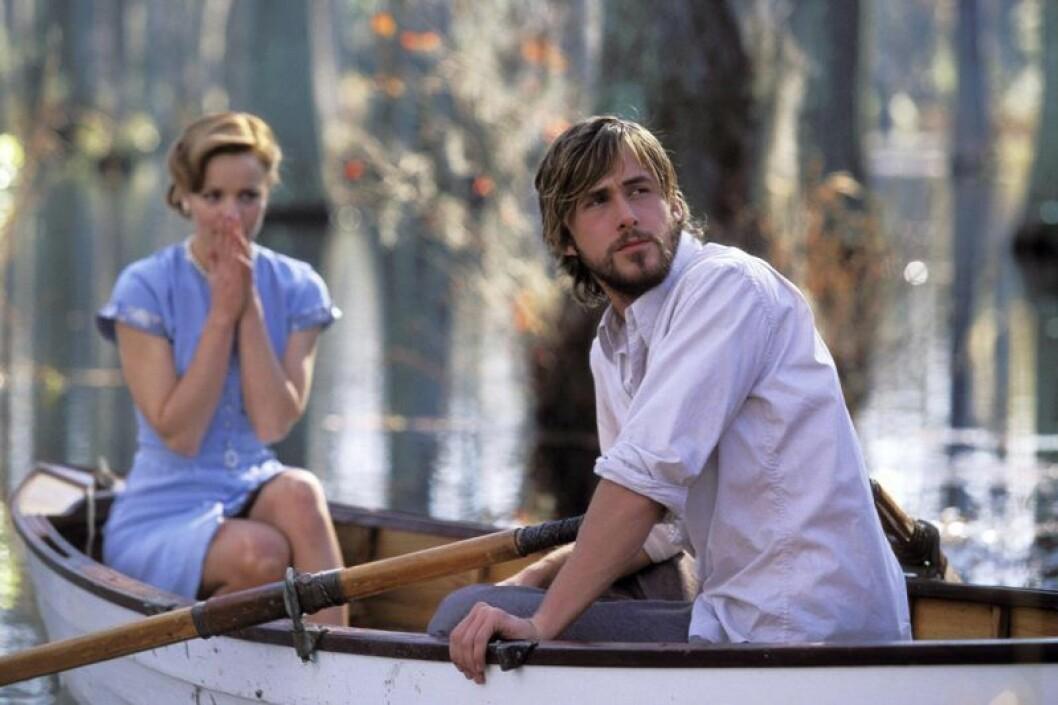 Allie och Noah ror