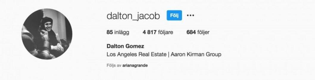 En bild på Dalton Gomez Instagramkonto.