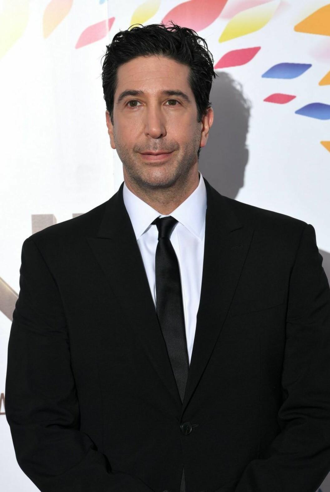 David Schwimmer i svart kostym och slips