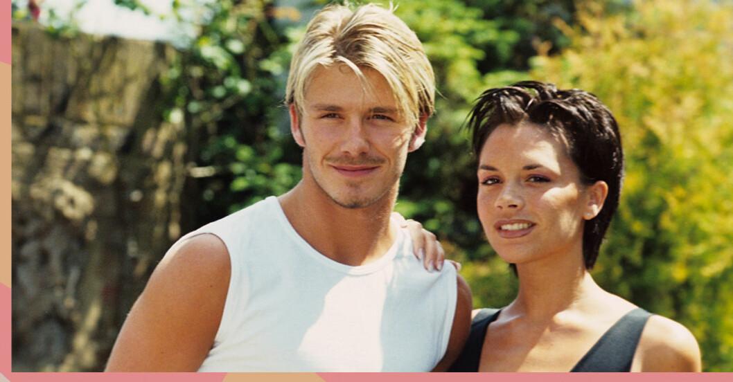 David och Victoria Beckham på 90-talet