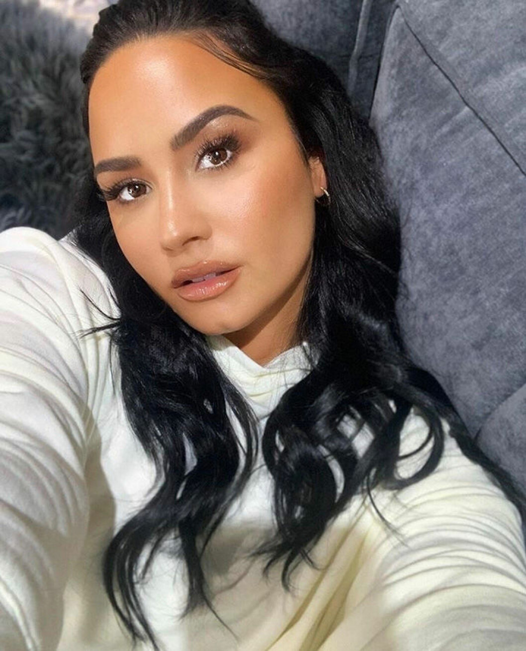 En bild på sångerskan Demi Lovato, som säger att hon är sexuellt attraherad av både män och kvinnor.