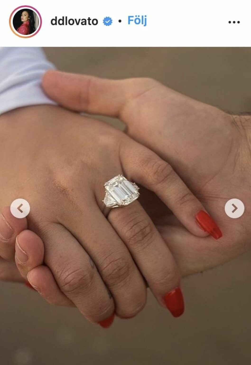 demi lovatos förlovningsring