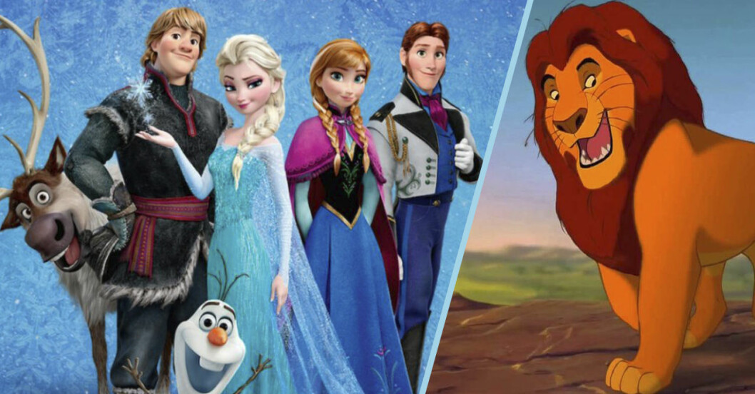lejonkungen och frost i Disney