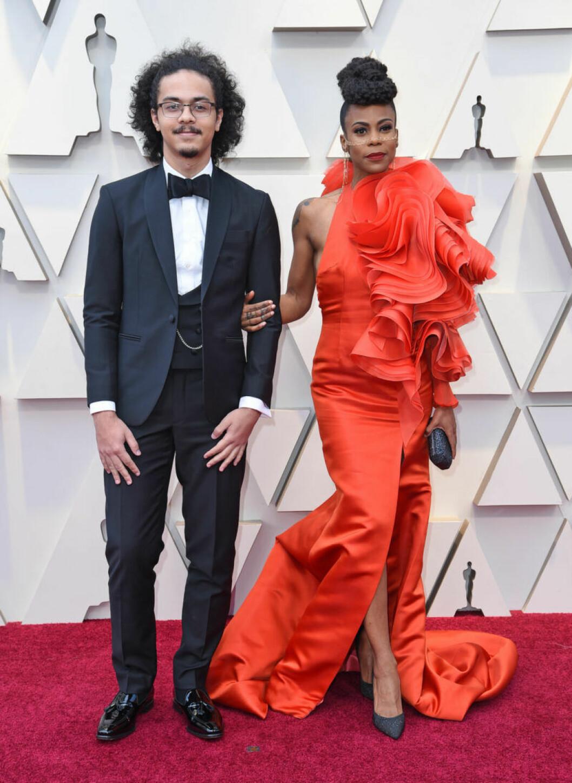 Dominic Beachler och Hannah Beachler på Oscarsgalan 2019