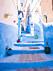 Chefchaouen i Marocko är känd för sina blåa fasader