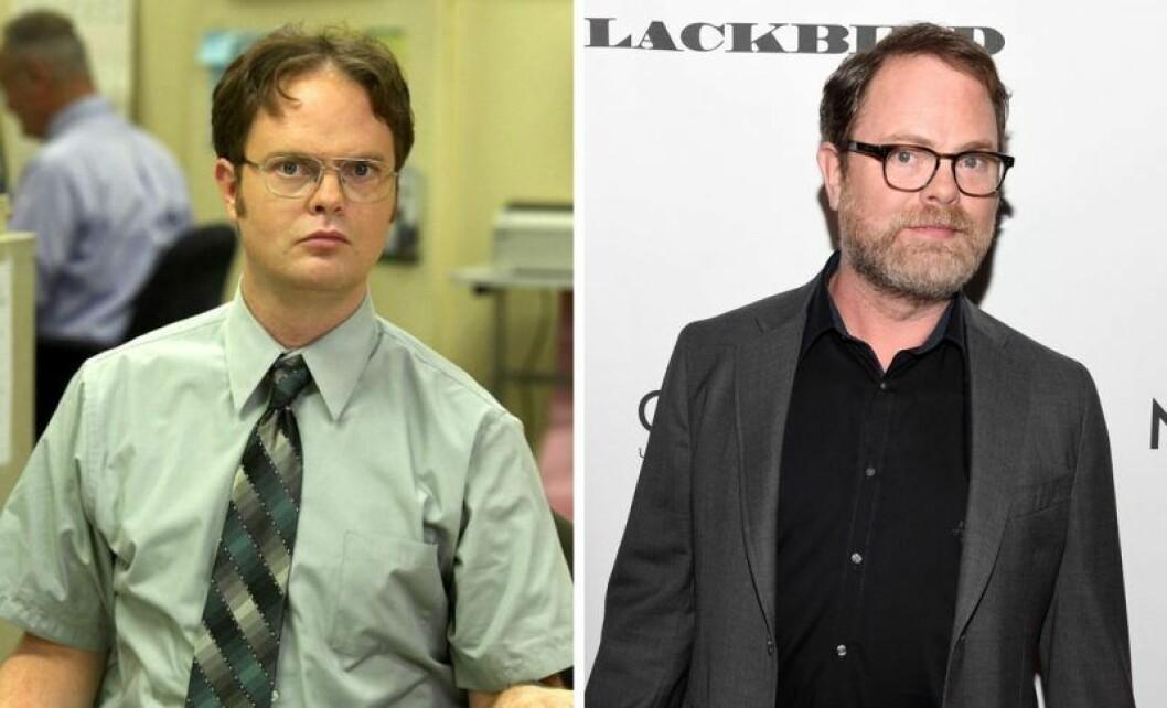 Dwight Schrute I The Office och Rainn Wilson.