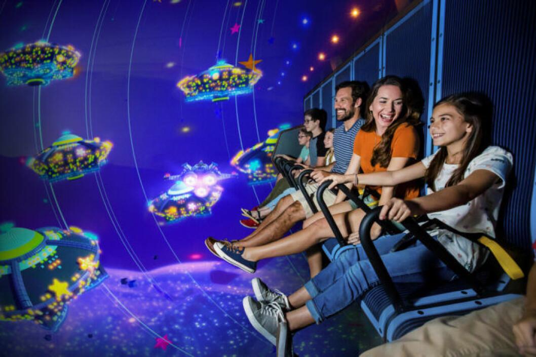 Emmets flygande äventyr på Legoland, inifrån.