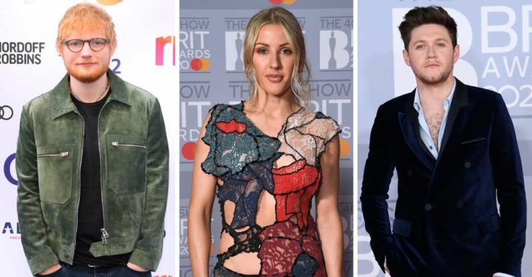 Niall Horan, Ellie Goulding, Ed Sheeran
